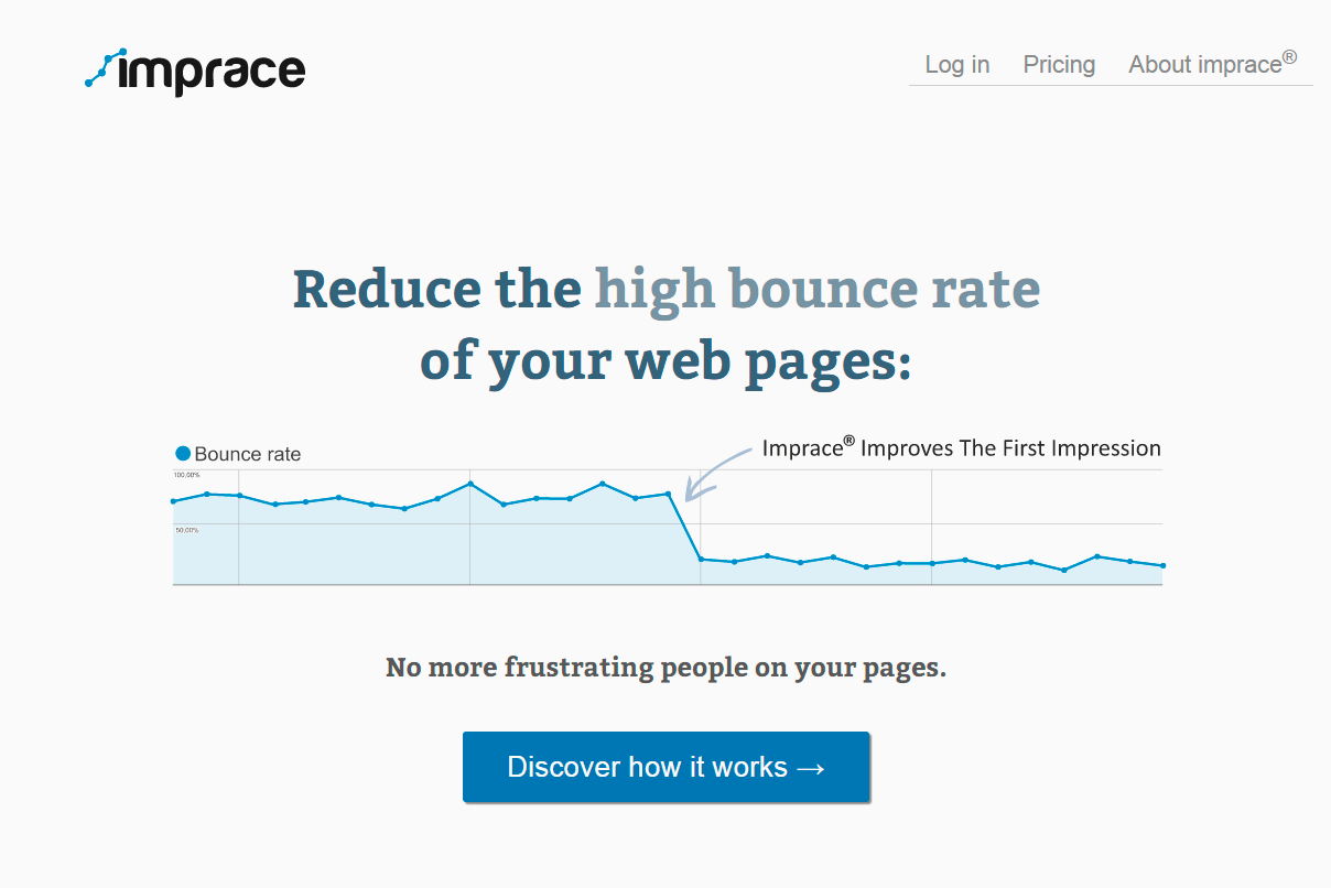 imprace — reduce bounce rate of your web pages